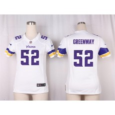 Women Nike Minnesota Vikings #52 Greenway Game White NFL Jersey