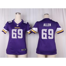 Women Nike Minnesota Vikings #69 Allen Game Purple Team Color NFL Jersey