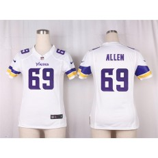 Women Nike Minnesota Vikings #69 Allen Game White NFL Jersey