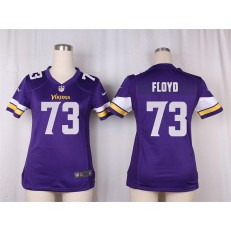 Women Nike Minnesota Vikings #73 Sharrif Floyd Game Purple Team Color NFL Jersey