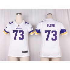 Women Nike Minnesota Vikings #73 Sharrif Floyd Game White NFL Jersey