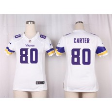 Women Nike Minnesota Vikings #80 Cris Carter Game White NFL Jersey