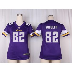 Women Nike Minnesota Vikings #82 Kyle Rudolph Game Purple Team Color NFL Jersey