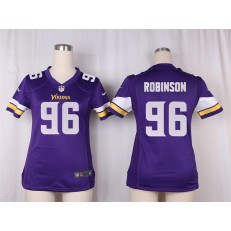 Women Nike Minnesota Vikings #96 Brian Robison Game Purple Team Color NFL Jersey