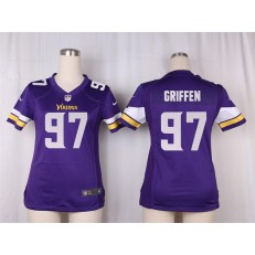 Women Nike Minnesota Vikings #97 Everson Griffen Game Purple Team Color NFL Jersey