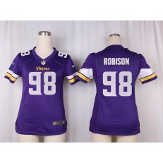 Women Nike Minnesota Vikings #98 Robison Game Purple Team Color NFL Jersey