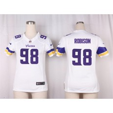Women Nike Minnesota Vikings #98 Robison Game White NFL Jersey