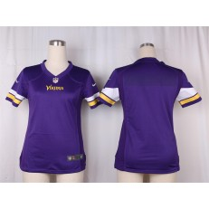 Women Nike Minnesota Vikings Blank Game Purple Team Color NFL Jersey