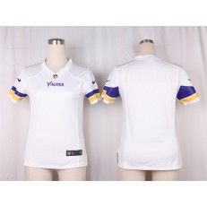 Women Nike Minnesota Vikings Blank Game White NFL Jersey
