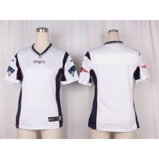 Women Nike New England Patriots Blank Game White NFL Jersey
