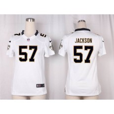 Women Nike New Orleans Saints #57 Rickey Jackson Game White NFL Jersey