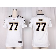 Women Nike New Orleans Saints #77 Willie Roaf Game White NFL Jersey