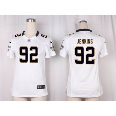 Women Nike New Orleans Saints #92 John Jenkins Game White NFL Jersey