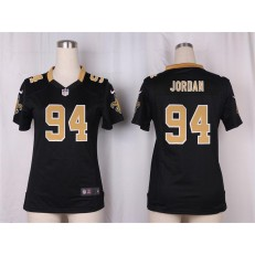 Women Nike New Orleans Saints #94 Cameron Jordan Game Black Team Color NFL Jersey