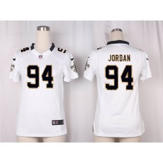 Women Nike New Orleans Saints #94 Cameron Jordan Game White NFL Jersey
