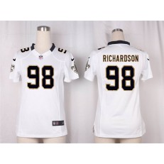 Women Nike New Orleans Saints #98 Richardson Game White NFL Jersey