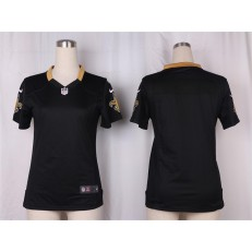 Women Nike New Orleans Saints Blank Game Black Team Color NFL Jersey