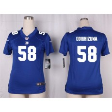 Women Nike New York Giants #58 Owa Odighizuwa Game Royal Blue Team Color NFL Jersey