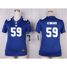 Women Nike New York Giants #59 Devon Kennard Game Royal Blue Team Color NFL Jersey