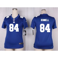 Women Nike New York Giants #84 Larry Donnell Game Royal Blue Team Color NFL Jersey