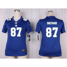 Women Nike New York Giants #87 Sterling Shepard Game Royal Blue Team Color NFL Jersey