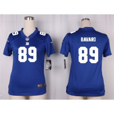 Women Nike New York Giants #89 Mark Bavaro Game Royal Blue Team Color NFL Jersey