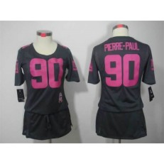 Women Nike New York Giants #90 Jason Pierre-Paul Breast Cancer Awareness Gray NFL Jersey