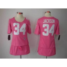 Women Nike Oakland Raiders #34 Bo Jackson Breast Cancer Awareness Pink NFL Jersey