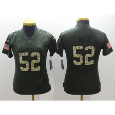 Women Nike Oakland Raiders #52 Khalil Mack Green Stitched NFL Salute to Service Jersey