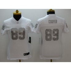 Women Nike Oakland Raiders #89 Amari Cooper White Stitched NFL Limited Platinum Jersey