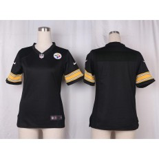 Women Nike Pittsburgh Steelers Blank Game Black Team Color NFL Jersey