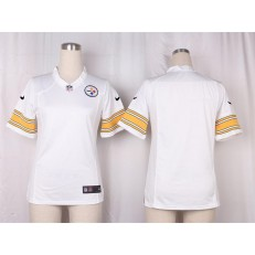 Women Nike Pittsburgh Steelers Blank Game White NFL Jersey