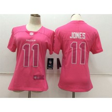 Women Nike Atlanta Falcons #11 Julio Jones Pink Stitched NFL Limited Rush Fashion Jersey