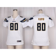 Women Nike San Diego Chargers #80 Floyd Game White NFL Jersey