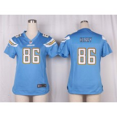 Women Nike San Diego Chargers #86 Hunter Henry Game Electric Blue Alternate NFL Jersey