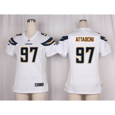 Women Nike San Diego Chargers #97 Jeremiah Attaochu Game White NFL Jersey