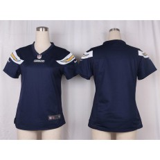 Women Nike San Diego Chargers Blank Game Navy Blue Team Color NFL Jersey