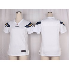 Women Nike San Diego Chargers Blank Game White NFL Jersey