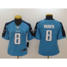 Women Nike Tennessee Titans #8 Marcus Mariota Light Blue NFL Vapor Untouchable Limited Jersey