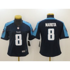 Women Nike Tennessee Titans #8 Marcus Mariota Navy Blue NFL Vapor Untouchable Limited Jersey