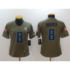 Women Nike Tennessee Titans #8 Marcus Mariota Olive 2017 Salute To Service Limited NFL Jersey