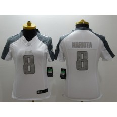 Women Nike Tennessee Titans #8 Marcus Mariota White Stitched NFL Limited Platinum Jersey