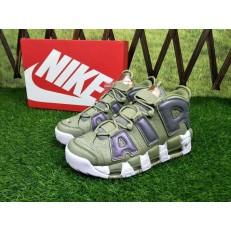 NIKE AIR MORE UPTEMPO KHAKI GREEN SILVER 917493-001