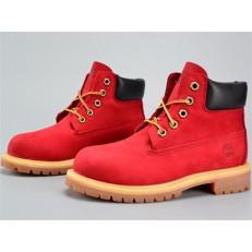 TIMBERLAND BOOTS 12909 JUNIOR RED NUBUCK WATERPROOF