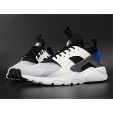 NIKE AIR HUARACHE RUN ULTRA WHITE BLUE BLACK 819685-100