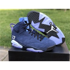AIR JORDAN 6 RETRO UNC CHAMPIONSHIP PE NAVY BLUE