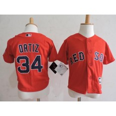MLB Boston Red Sox 34 David Ortiz Red Toddler Jersey