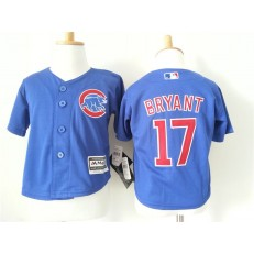 MLB Chicago Cubs 17 Kris Bryant Blue Cool Base Toddler Jersey