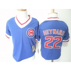 MLB Chicago Cubs 22 Jason Heyward Blue Pullover Toddler Jersey
