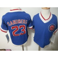 MLB Chicago Cubs 23 Ryne Sandberg Blue Pullover Toddler Jersey